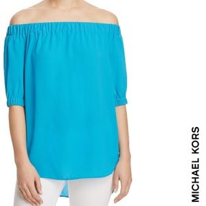 MICHAEL Michael Kors Off-The-Shoulder Textured Top